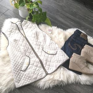 CHARTER CLUB - NWT White Quilted Vest